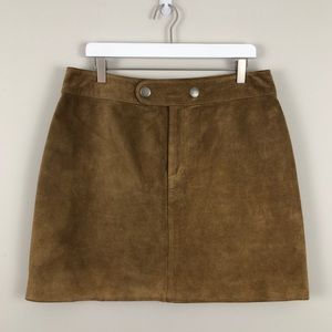 Banana Republic Suede Leather Mini Skirt